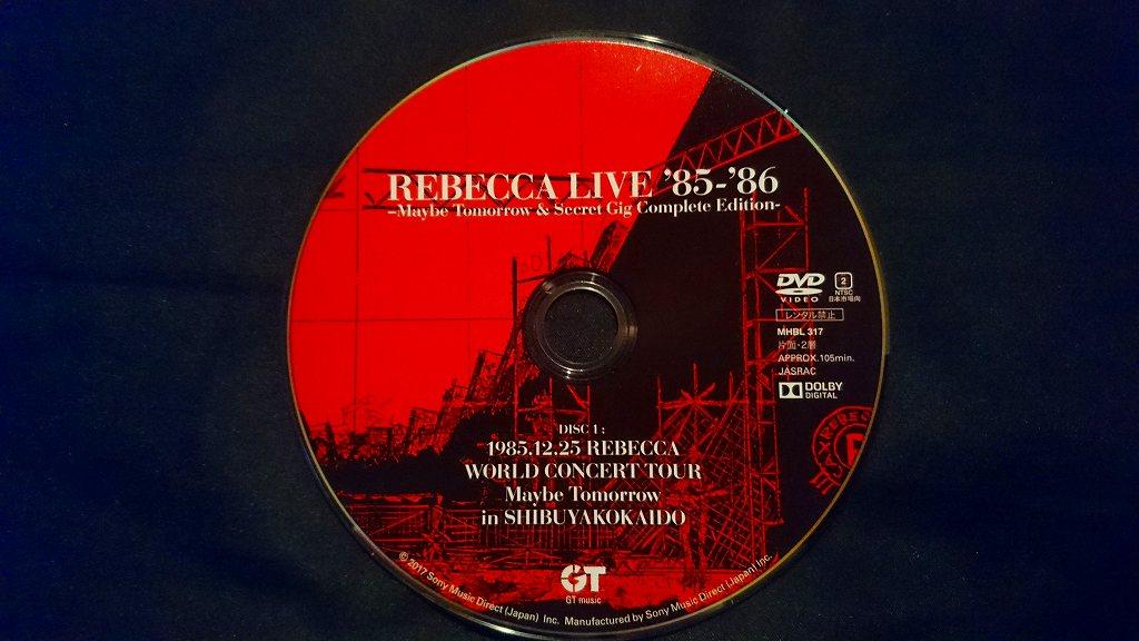 着弾!REBECCA LIVE DVD['85-'86...